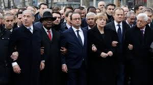 Heads of State Marching in Paris