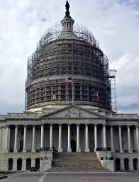 U.S. Capitol Dome Being Restored.
