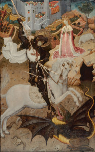 St. George and the Dragon, Bernat Martorell, 1434/25